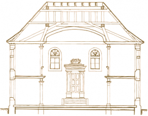 Synagogue Blueprint  Brown